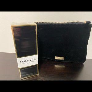 Carolina Herrera Body Cream& cosmetic bag!